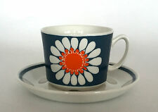 Vintage Figgjo Flint 'Daisy' Cup & Saucer Turi Design  Norway c.1960/70s (A)