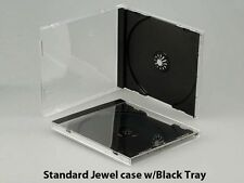 30 New Standard 10.4mm Single Black Tray CD DVD Jewel Cases, hold 1 Disc, CDSB