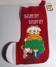 vintage garfield Christmas stocking....stuff it!  stuff it!