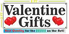 VALENTINE GIFTS Full Color Banner Sign for candy roses gifts chocolate flowers