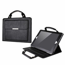 iPad Air 2 Stand Handbag Case with Handle & Storage Compartment, Black