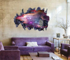 Outer Space Removable Vinyl Art Home Decor 3D Galaxy Wall Sticker Decals Purple