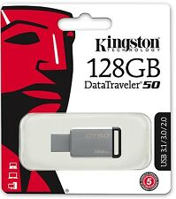 Kingston 128GB USB DataTraveler 50 128G USB 3.1 Flash Pen Drive DT50/12GB Retail