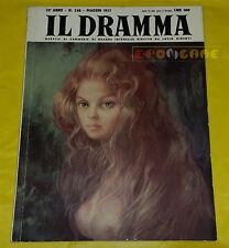 IL DRAMMA 1957 n. 248 - Copertina Leonor Fini - Opere: vedi inserzione