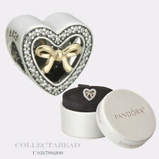 Authentic Pandora Mother's Day Bound By Love Gift Set 2016 Heart Box USB796200
