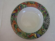 Sakura, ULTRA Porcelain, Magic Jungle, Rim Soup Bowl(s), Excellent Condition