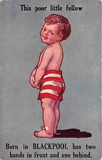 POSTCARD  COMIC  CHILDREN   BLACKPOOL    Bottom  Related  This poor little....