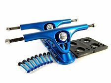 "Paris 180mm V2 Longboard Trucks Blue w/ 1/4"" Riser Pad + 1.5"" Hardware"