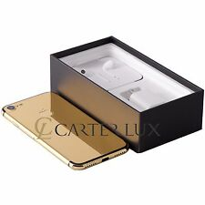 Apple iPhone 7 128GB Jet Black Custom 24 K 24ct Karat Gold