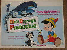 PINOCCHIO original DISNEY lobby card 11x14 movie poster 1977