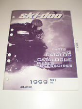SKIDOO 1999 PARTS AND ACCESSORIES CATALOG MANUAL MX Z 440