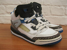 Nike Air Jordan Spizike Boy's Leather White Blue Black Hi Trainers. UK Size 5.5