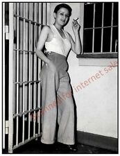 1935 Lesbian in Jail Photo ~ Booked on Suspicion of Burglary Gay, Hoodlum NYC