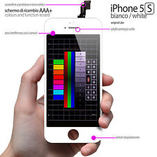 TOUCH SCREEN + LCD RETINA IPHONE 5S BIANCO (DISPLAY COMPLETO PREASSSEMBLATO)