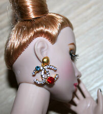 Ooak by Grazia Boucles d'oreilles pour fashion royalty, barbie/x