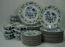 BLUE DANUBE china/pattern 60-pc SET SERVICE for 12 cup saucer dinner salad bread