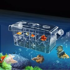 Fish Breeding Box Tank Aquarium Isolation Incubator Hatchery Young Breeder Clear