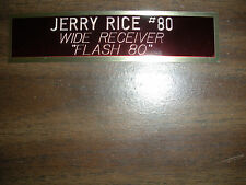 JERRY RICE NAMEPLATE FOR SIGNED BALL CASE/JERSEY CASE/PHOTO