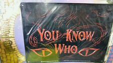 "HARRY POTTER ""YOU KNOW WHO"" (FROM THE MOVIE) TIN SIGN (NEW)"