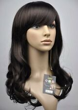 HELLOJF97  vogue long dark brown curly hair Wig  wigs for women