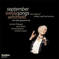 September Songs: The Music of Wilder, Weill and Warren by Wesla Whitfield...