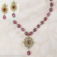 Kundan Wedding Jewelry Necklace with Earrings Latest Bollywood Fashion Online