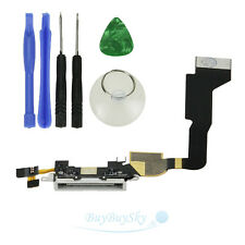 Charger Charging Dock Port Connector Flex Cable for iPhone 4 CDMA Verizon White