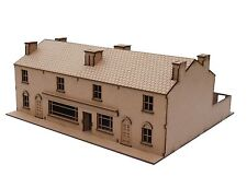 28 mm Terrace House and Shop Quad model WWII. laser cut 2 mm MDF