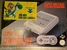 CONSOLE SUPER NINTENDO MARIO WORLD CONSOLE SNES PACK SUPER MARIO WORLD COMPLETE