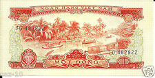 South Vietnam Uncirculated 1 Dong Banknote,P-40
