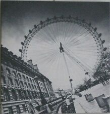 Large Black & White London Eye Canvas Wall Art Picture On Wooden Frame 50 x 50cm