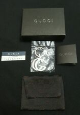 GUCCI GG KEY CHAIN  .925 SILVER NEW WITH BOX/POUCH/SEALED