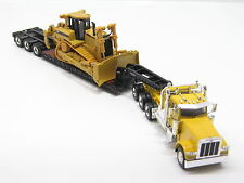 Caterpillar PETERBILT 389 tri-axle with Lowboy and Cat D8R 1:50 Norscot 55207