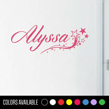 GIRLS NAME Stars Vinyl Sticker Wall Decal Room Decor