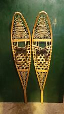 "GREAT Set of Snowshoes 58"" Long by 12"" Wide with Leather Bindings"