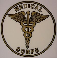 Window Bumper Sticker Military Army Medical Corps NEW Decal