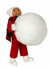 Byer's Choice Toddler Child Holding Snowball So Cute! MINT NEW STORE STOCK '15