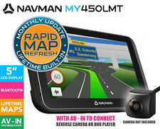 "Navman MY450LMT 5"" GPS Navigator Touch screen Bluetooth Lifetme Maps Media Playr"
