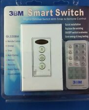 3BM Smart Switch - Digital Dimmer Switch With Timer & IR Remote Control GL320BM