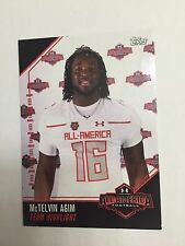 McTelvin Agim 2016 Topps Under Armour All America Football Card Arkansas