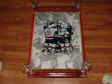 2002 TEAM CANADA GOLD MEDAL COLLECTORS EDITION HOCKEY COSTACOS POSTER BRODEUR