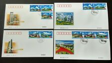 China 2000-16 Construction of Shenzhen Special Economic Zone 5v each FDC & B-FDC