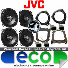 Vauxhall Corsa C 00-06 JVC 1000 Watts Front Door & Rear Hatch Car Speaker Kit