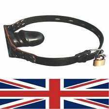 Ball Gag Single Protruding locking with padlock, fetish, bondage, uk fast post