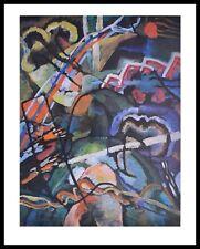 Kandinsky Composition storm Poster Kunstdruck mit Alu Rahmen in schwarz 71x56cm
