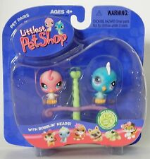 L1 Littlest Pet Shop 205 & 206 Blue and Pink birds on perch new in pack