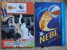 Media Guide basketball Lietuvos Rytas 2000/2001 + guide NEBL 2000/2001