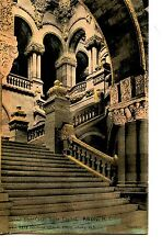 Grand Stair Case-Steps-State Capitol Interior-Albany-New York-Vintage Postcard
