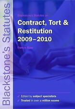 Blackstones Statutes on Contract, Tort and Restitution