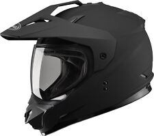 Gmax GM11 Dual Sport Adventure Street-Dirt Motorcycle Helmet LARGE Flat Black
